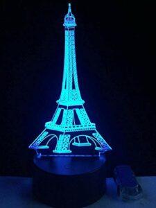 Veilleuse 3D Glissière LED 3D, adaptée aux enfants, adultes, filles, filles, chambres à coucher, miracles, lampes de chevet, interrupteurs tactiles en 7 couleurs