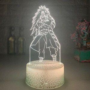 3D Night Light Illusion Led Lampes Décor lampe pour Enfants Anime 3D Optique Uchiha Madara Veilleuse LED Lumière Chambre Lampe De Table Sommeil Décor Lumière Jouet De Vacances pour Enfants