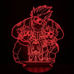 BEAUTYBIGBANG 2021 3D Illusion Lampe Led Nuit Lumière Anime Naruto Uzumaki tactile enfants veilleuse pour chambre à coucher, éclairage de décoration de bureau pour garçons