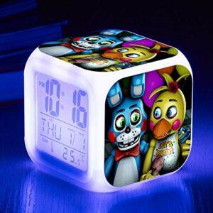 Enfants Cartoon Réveil Réveil Numérique Coloré Lumineux LED Lumière Cadeaux De Noël pour Enfants