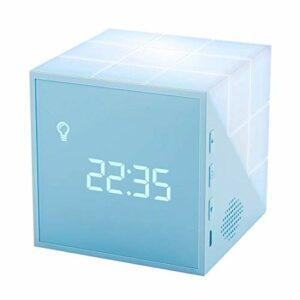 Homealexa Cube Réveil Matin Numérique Alarm Clock Digital LED Enfant Fille avec Fonction Countdown Timer Minuterie de Cuisine, 2 Paramètres Alarme, USB Alimenté,12/24H,℃/℉