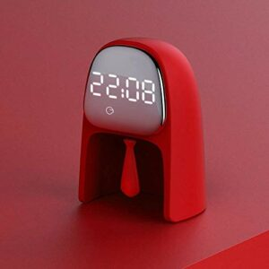 Horloge de chevet, réveil ajustable Réveil de voyage Réveil Réveil Réveil Chambre à coucher Chambre à coucher Table de chevet Lampe LED Capteur de temps de temps (couleur: rouge, taille: 92x75x127mm)