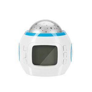 Kathlen Projecteur de Musique Light – Portable Star Sky Effect LED Music Player Projector Light Home Decor Lampe Horloge