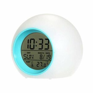 MingXinJia Accueil Horloges de Chevet Réveil Numérique Réveil Heure Fonction de Sommeil Affichage Led Pour Chambre Salle de Bain Cadeau Présent Led Réveil Numérique Lampe