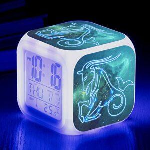 Réveil lumineux pour enfants à LED, changement de couleur, lumière de réveil, cadeaux d'anniversaire pour enfants, jouet multifonctionnel