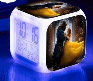 shiyueNB Montre lumière Lumineuse Réveil LED Réveil numérique Horloge à Affichage LED ArmyGreen
