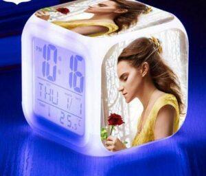 shiyueNB Montre lumière Lumineuse Réveil LED Réveil numérique Horloge à Affichage LED Lightgrey