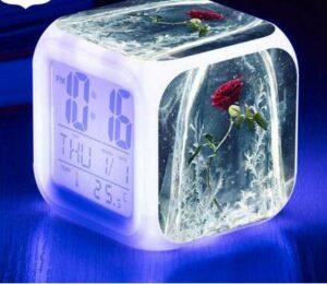 shiyueNB Montre lumière Lumineuse Réveil LED Réveil numérique Horloge à Affichage LED Noir