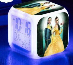 shiyueNB Montre lumière Lumineuse Réveil LED Réveil numérique Horloge à Affichage LED Orange