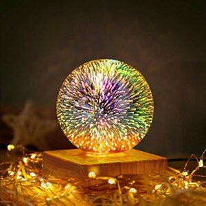 Sunbaby Veilleuse magique en verre à LED 3D, boule en verre USB, décoration de table, cadeau pour bébé, enfant, adulte