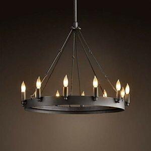 Veilleuse Chandelier Lighting Vintage Gloss Iron Chandelier Loft Chandelier Black For Living Room