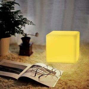 Wlnnes Extérieur Led Cube lumineux LED président Cube Bar Lampe de table 16RGB couleur 4 Luminosité KTV Tabouret de bar extérieur étanche pelouse paysage lampe Chambre d'enfant Veilleuse