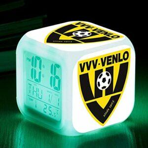 Yyoutop Réveil Club Couleur Changeante LED réveil réveil bébé veilleuse Montre Horloge numérique
