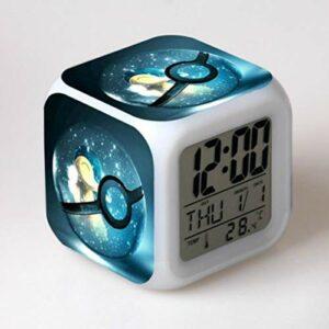Yyoutop Réveil pour Enfants réveil numérique Dessin animé réveil lumière réveil Table LED Horloge désespoir