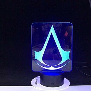 3D LED veilleuse cadeau pour enfants chambre décor couleur changeante salle d'étude Led veilleuse lampe