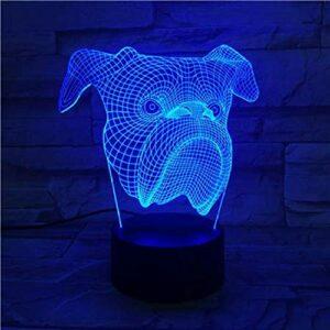 3D LED veilleuse lampe bébé cadeau veilleuse USB ou lampe décorative de bureau à piles 7/16 couleurs