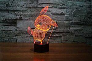 3D LED veilleuses lampe veilleuses Mega Touch lampe de Table 7 couleurs RVB pour enfants cadeau jouets décoration