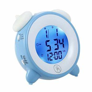 AFCITY Réveil De Chevet Réveil pour Enfants Horloge De Sommeil pour Enfants Utilisation Facile à Lire