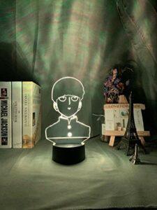 A-Generic 3D LED Illusion Lampe veilleuse Optique Table de Chevet veilleuses éclairant Enfants Lampe Sommeil éclairage 7 Couleur Changeante télécommande