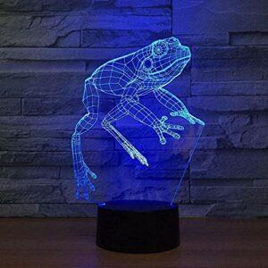 Baby Spielzeug Mq3989 Veilleuse à LED pour enfants Dragon à cornes et éléphant 3D Lampe à illusion pour chambre 16 couleurs changeantes Télécommande jouet Cadeau d'anniversaire pour garçons et filles