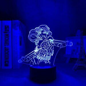 Cadeau pour garçon – 2021 – Lagune Revy – Veilleuse LED – Pour chambre à coucher – Décoration – Cadeau – Anime Table 3D – Revy – Noir Lagune MAOJIE