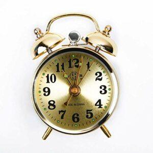 FHISD Réveil décoratif classique rétro avec veilleuse, ronde, simple face silencieuse, veilleuse, réveil de chevet facile à régler