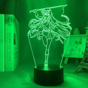 Figurine de Noël à LED Akame Ga Kill Akame – Décoration de chambre à coucher – Veilleuse Manga – Enfant – Cadeau d'anniversaire – Anime 3D – Lampe Akame MAOJIE