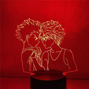 Générique Lampe d'illusion LED veilleuse 3D de Personnages de Chasseur d'pour Enfants Chambre Chevet décor à Distance 7 Couleurs