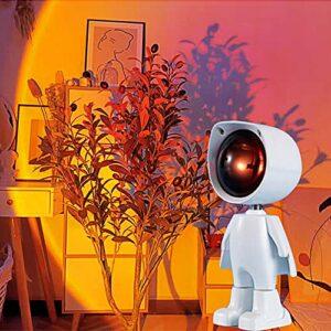 GUANGE Commande Tactile De Projecteur De Nuit De Coucher De Soleil Romantique, Projecteur De Lampe De Conception De Robot, Lampe De Projection De Lumière LED, Lumière du Soleil