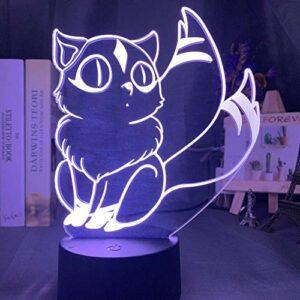 Lampe illusion 3D – Veilleuse – Pour décoration de chambre – Change de couleur – Cadeau idéal pour les enfants