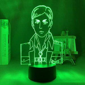 Maoji Lampe de Pâques 3D Anime Attire le titane · Décoration de chambre à coucher, cadeau d'anniversaire d'enfant Comics avec veilleuse LED Titane