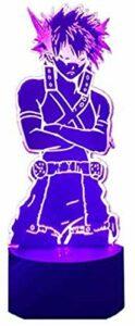 My Hero Academia Katsuki Bakugo – Veilleuse optique 3D – Cadeau de jeu – 16 couleurs – Changement automatique – Décoration de bureau – Cadeau d'anniversaire avec télécommande