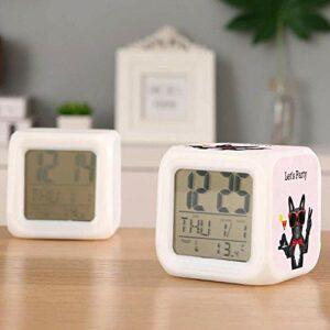 Réveil numérique pour enfants éléphant de la Saint-Valentin avec horloge de nuit colorée pour réveiller les étudiants pour enfants à la chambre à coucher cadeaux de chevet-C