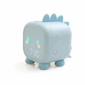 Réveil réveil en forme de dragon, horloge de chevet numérique intelligente, veilleuse, presse LED petit réveil (Rose)