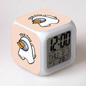 shiyueNB Dessin animé réveil Horloge numérique Enfants réveil lumière LED Horloge reloj Bureau réveil Bureau réveil 12