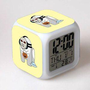 shiyueNB Dessin animé réveil Horloge numérique Enfants réveil lumière LED Horloge reloj Bureau réveil Bureau réveil 15