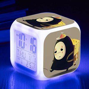 shiyueNB Jouet pour Enfants réveil électronique Dessin animé réveil réveil électronique Table Lumineuse Chambre décoration réveil SeeChart16