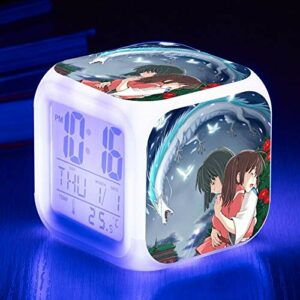 shiyueNB Jouet pour Enfants réveil électronique Dessin animé réveil réveil électronique Table Lumineuse Chambre décoration réveil SeeChart2