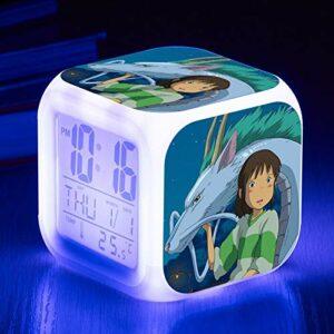 shiyueNB Jouet pour Enfants réveil électronique Dessin animé réveil réveil électronique Table Lumineuse Chambre décoration réveil SeeChart6