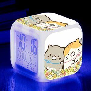 shiyueNB Réveil Biologique LED Couleur Changeante Horloge numérique Dessin animé Jouet Bureau pour Enfants réveil Lumineux réveil électronique SeeChart11