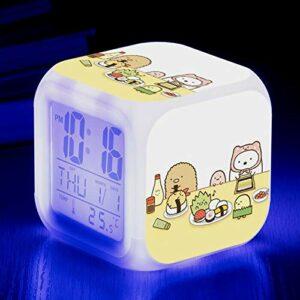 shiyueNB Réveil Biologique LED Couleur Changeante Horloge numérique Dessin animé Jouet Bureau pour Enfants réveil Lumineux réveil électronique SeeChart4