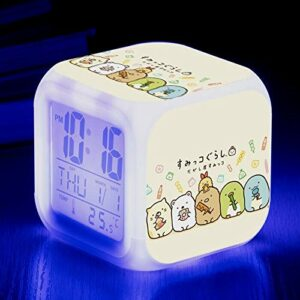 shiyueNB Réveil Biologique LED Couleur Changeante Horloge numérique Dessin animé Jouet Bureau pour Enfants réveil Lumineux réveil électronique SeeChart6