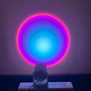 SUNNFLOOWER Halo Coucher de Soleil LED veilleuse de Sol, Coucher de Soleil éternel Arc-en-Ciel Romantique projecteur atmosphère lumière LED décoration Murale Lampe colorée (Rainbow)