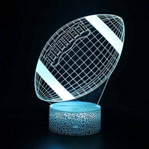 veilleuse 3D LED Footballenfants veilleuse illusion light peuvent être utilisées pour changer à distance couleurs décorer les lampes cadeaux enfants