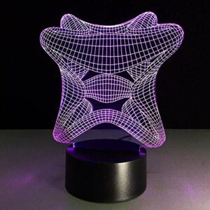 Veilleuses USB 3D ampoule visuelle Illusion d'optique Table colorée jolie lampe de Table petite veilleuse bébé alimenté par batterie
