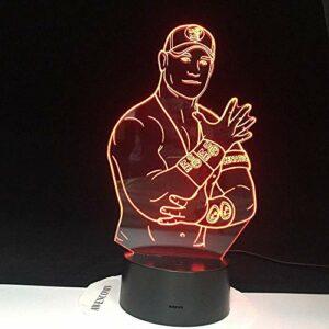 Wrestler 3D LED veilleuse capteur tactile couleur changeante veilleuse pour bureau chambre décor Cool lampe de Table