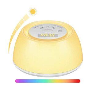 Accueil Horloges de chevet Lampe de réveil Réveil Table / Bureau / Horloges Commande tactile Lumière multifonction Veille de sommeil Lampe de chevet Simulation de lumière d'ambiance colorée Décoratio