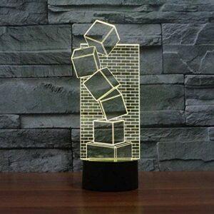 Baby Spielzeug Lampe de table LED 3D Illusion colorée au toucher cool Veilleuse Cadeau de Noël Romantique Vacances Mignon Gadget créatif
