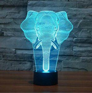Haut-Parleur Bluetooth Elephant 3D Led Veilleuse Tactile Animal Lampe De Table Bébé Enfant Sleeping Mood Lampe