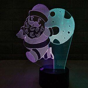 HWHZ Une Image colorée LED3D veilleuse Interface USB Tactile dégradé coloré Vision stéréo lumière Cadeau lumière